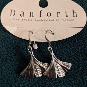 Danforth Pewter Ginko leaf earings